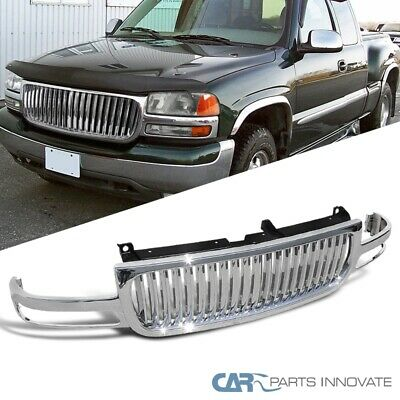 $202 • Buy For GMC 99-02 Sierra 00-06 Yukon XL Bumper Hood Grill Chrome Vertical Grille 1PC
