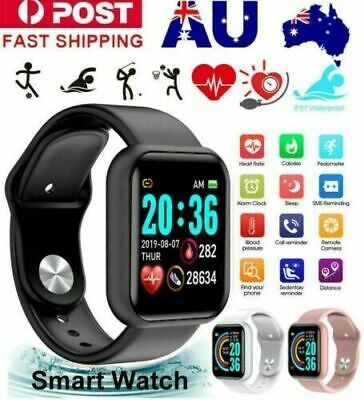 AU19.52 • Buy Bluetooth Smart Watch Waterproof Heart Rate Fitness Bracelet For IPhone Samsung