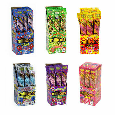 £1.49 • Buy MILLIONS TUBES SWEETS KIDS RETRO PICK 'n' BIRTHDAY IDEAL CAKE DECORATIONS 50g
