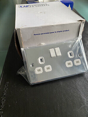 LAP 13A Polished Chrome Switched Sockets (5 Pack) • 15£