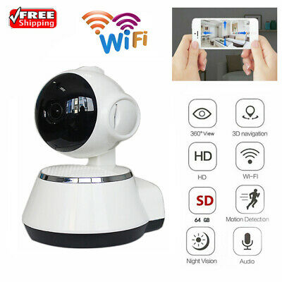 720P HD Wireless IP Camera 3.6mm IR Lens Home Safety WiFi Dome Camcorder White • 19.98£