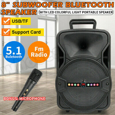 $38.45 • Buy 8  1000W FM Bluetooth Speaker Subwoofer Heavy Bass Sound System Party Portable