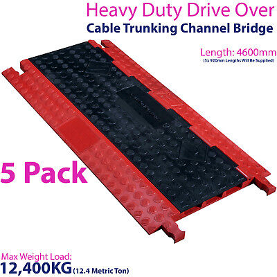 £724.99 • Buy 5x 12,400KG 3 Channel Drive Over Cable Protector-Outdoor Trunking Bridge Ducting