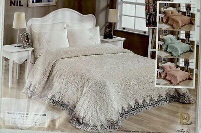 £83.99 • Buy French Lace Embroidered Blanket Set - 6 Pieces, Wedding Or Christmas Gifts