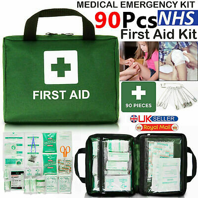 £8.49 • Buy 90 Piece First Aid Kit Bag Medical Emergency Kit. Travel Home Car Taxi Workplace