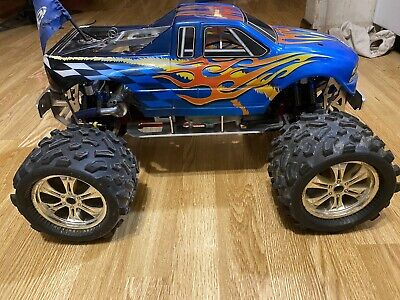Rc 1/8 Scale Big Monster Truck All Aluminum Vintage Team Associated 1 Of Kind • 465.12£