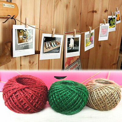 30m Roll Jute String Hemp Rope For Jewelry Necklace Making DIY Xmas Decor New • 3.29£