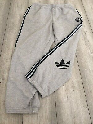 $ CDN17.53 • Buy Retro Adidas Sweat Pants Joggers Tracksuit Bottoms Size Large Grey