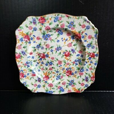 $ CDN27.48 • Buy Vintage Royal Winton Grimwades Plate Old Cottage Chintz Made In England Roses