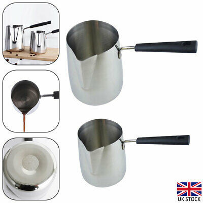 Wax Melting Pot Pouring Pitcher Jug Stainless Steel Pot Candle Soap Making Tool • 9.14£