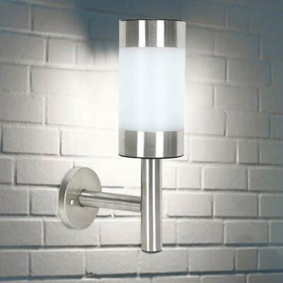 Solar Powered Outdoor Wall Lights Shed Fence Stainless Steel Garden Outdoor • 6.95£