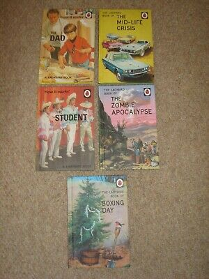 5 X Ladybird Books For Grown-Ups Student Dad Mid Life Crisis Boxing Day Zombie  • 10.95£
