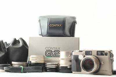 $ CDN3038.27 • Buy 【TOP MINT Body & MINT Lens In BOX】 Contax G2 Body + 28mm 45mm 90mm Japan #637
