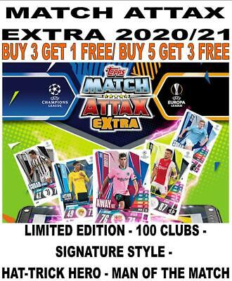 £4.25 • Buy Match Attax Extra 2020/21 20/21 100 Club/ Limited/ Signature Style/ Motm