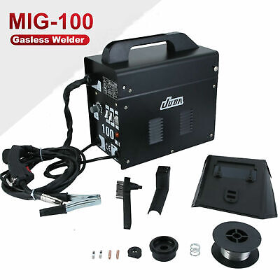 Portable Welder MIG 100 No Gas Auto Wire Feed 240V Welding Machine Electric Kit • 83.69£