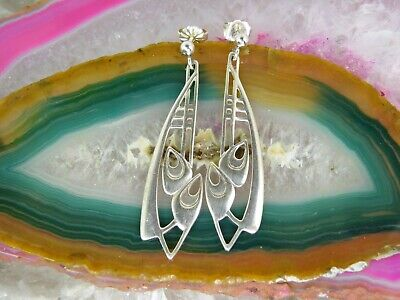£43.21 • Buy Ola Gorie Sterling Silver Scottish Abstract Lily EARRINGS 1 5/8  Dangle