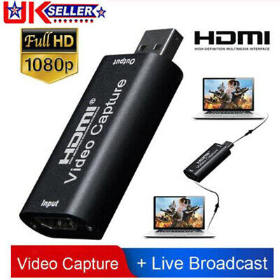 HDMI Video Capture Card USB 2.0/1080p HD Recorder For Video Live Streaming/Game • 6.49£