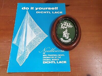 Vintage Brussels Lace Making Picture & Do It Yourself Dichtl Pattern Booklet • 7.99£