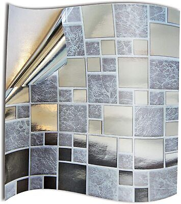 24x Tile Stickers Waterproof Transfers Cover Kitchen Bathroom Stick On Wall Peel • 11.95£