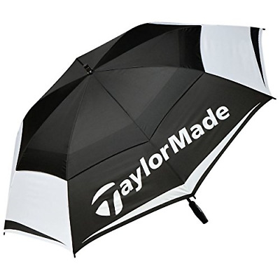 TaylorMade Tour Preferred 64 Inch Double Canopy Golf Umbrella, Black, One Size • 45.98£