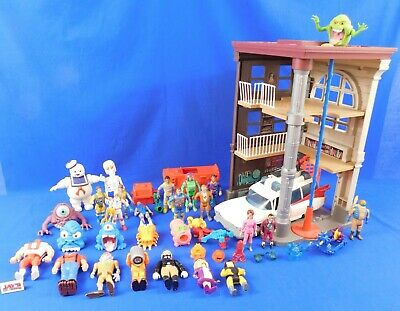 Vtg Lot Of The Real Ghostbusters Toys- 27 Figures/Ghosts, Ecto-1, Fire Station  • 868.30£