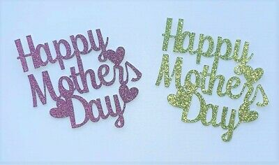 £3.50 • Buy Happy Mothers Day Cupcake Toppers - Choice Of Colours - Set Of 6 - Free P&P