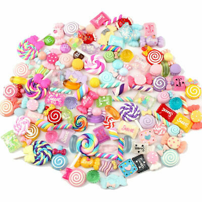 AU12.98 • Buy DIY 30Pcs Mixed Candy Sweets Slime Charms Set Cute Resin Flatback Slime Beads