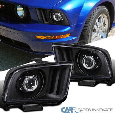 $142.45 • Buy For 05-09 Ford Mustang Black Projector Headlights Head Lights Lamps Left+Right