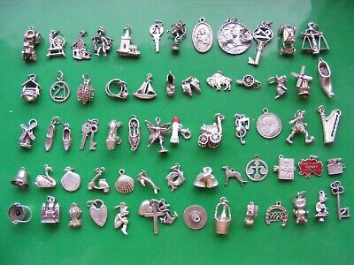 £6.99 • Buy G) Vintage Sterling Silver Charms Charm Car Pixie Bells Eros Harp Boot Shell Key