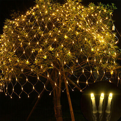 LED Net String Lights Curtain Mesh Fairy Lights For Xmas Tree Party Outdoor UK • 27.79£