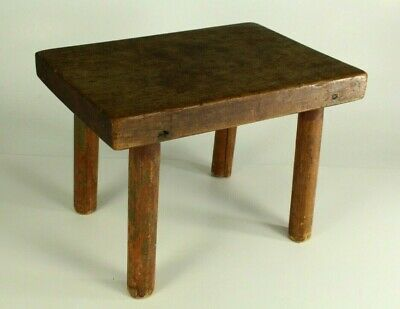 $155.51 • Buy = Antique 19th C. Burl Wood Milking Stool On 4 Feet, Small Chair New England