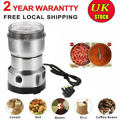 £9.98 • Buy 150W Electric Coffee Grinder Grinding Bean Spice Seed And Nut Herb Mill Blender