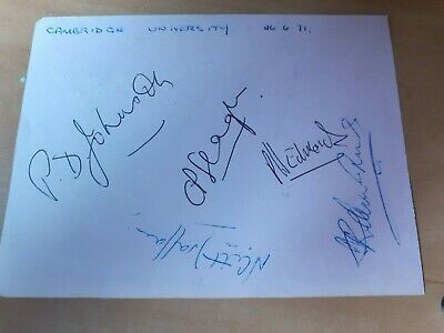 CAMBRIDGE UNIVERSITY  Cricket Team Multi Signed Autograph 1971 PHIL EDMONDS • 7.99£
