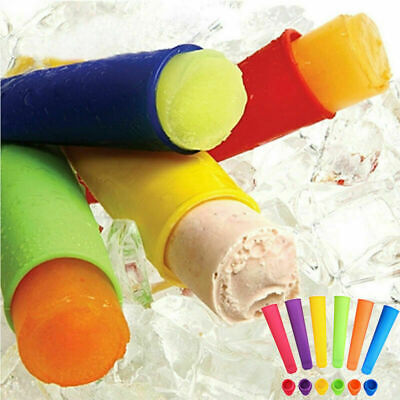 4PCS Small Silicone Ice Lolly Maker PushUp IcePop Mold Smoothie Yogurt Mould • 1.29£