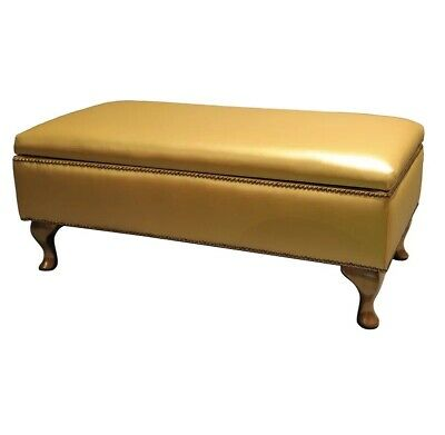 Baroque Upholstered Storage Bench With Louis Style Legs • 255£
