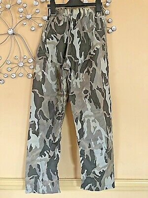 Peter Storm Camouflage Waterproof Trousers Size 11-12 Years. - Excellent Con • 1.70£