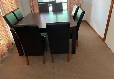 AU399 • Buy Dining Table With 8 Leather Chairs For Sale