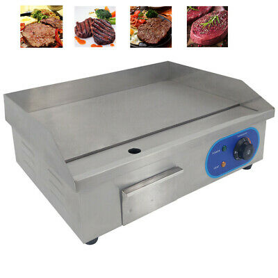 £109 • Buy 3KW Electric Griddle Commercial Kitchen Hotplate BBQ Flat Grill Bacon Countertop