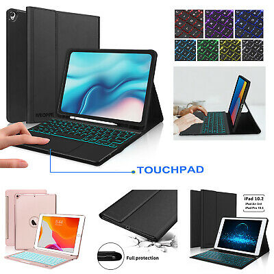 AU49.99 • Buy For IPad 7th/8th Gen 10.2  Air3 Pro 10.5 Wireless Bluetooth Keyboard Smart Cover