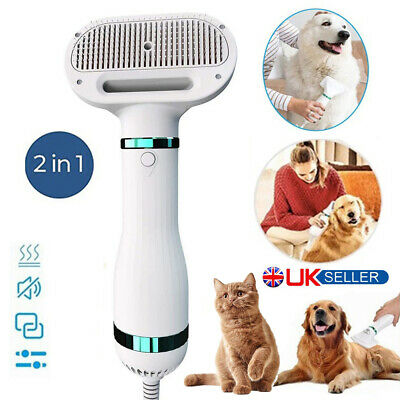 £29.99 • Buy 2 In 1 Pet Hair Dryer Cat And Dog Hair Brush Comb Quick Drying For Small Pet Dog