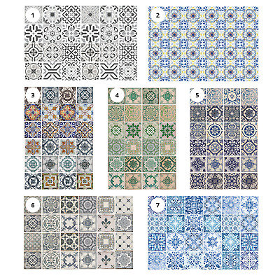 Peel And Stick Backsplash Mosaic Tile Sticker For Bathroom Kitchen Self Adhesive • 8.99£