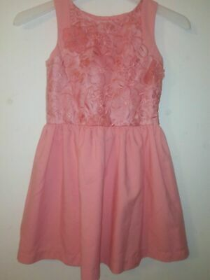 Rocha John Rocha Debenhams Girls Party Dress Size 7 Years Colour Coral Christmas • 7.99£