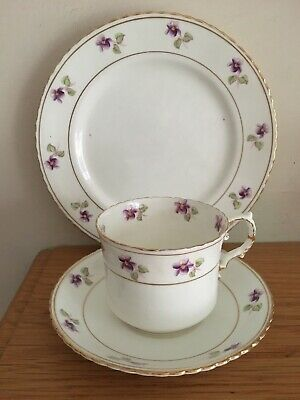 Lovely White With Flowers Aynsley Bone China Vintage Cup, Saucer & Tea Plate • 2.45£