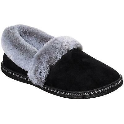 Ladies Skechers Cozy Campfire Team Toasty Black Fux Fur Slippers 32777/blk • 39.95£