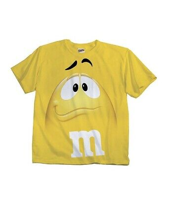 $9.99 • Buy Adult & Youth Kids M&M's M&M Face Costume T-Shirt Tee Yellow Small Shirt