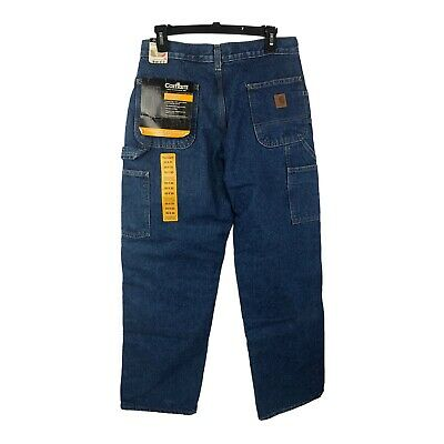 $29.75 • Buy New  Carhartt Flannel Lined Dungaree Fit Denim Jeans DST B236 30x30