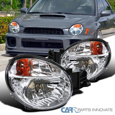 $116.95 • Buy For 02-03 Subaru Impreza Outback WRX Clear Headlights Head Lamps Replacement Set