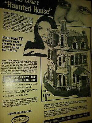 $ CDN24.97 • Buy Aurora Addams Family Haunted House Model Original Ad Carolyn Jones Vintage 1965