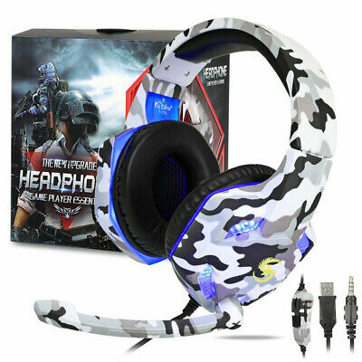 AU38.99 • Buy 3.5mm Gaming Headset With Mic USB Laptop Headphones Earphone PC For Mac PS4 Xbox
