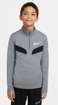 Boys Genuine Nike Sports Poly 1/4 Zip Top Dri-Fit Grey Track Top Jacket - Medium • 19.99£